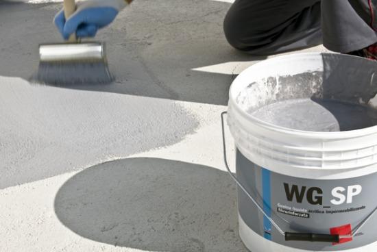 WG-SP - Guaine liquide e cementizie per tetti, terrazzi, piscine - Impermeabilizzanti