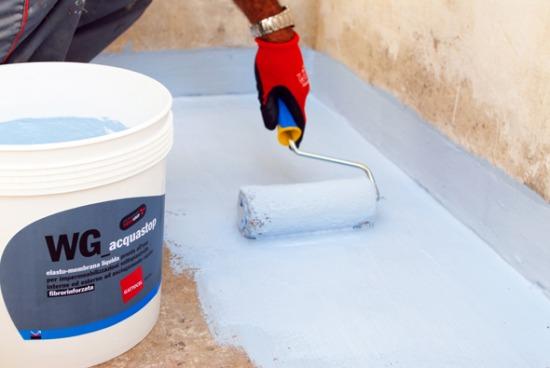 Wg acquastop guaine liquide e cementizie per tetti for Adesivi per piscine